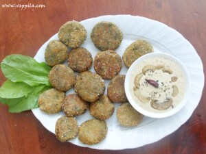 spinach cutlet and mashroom dip