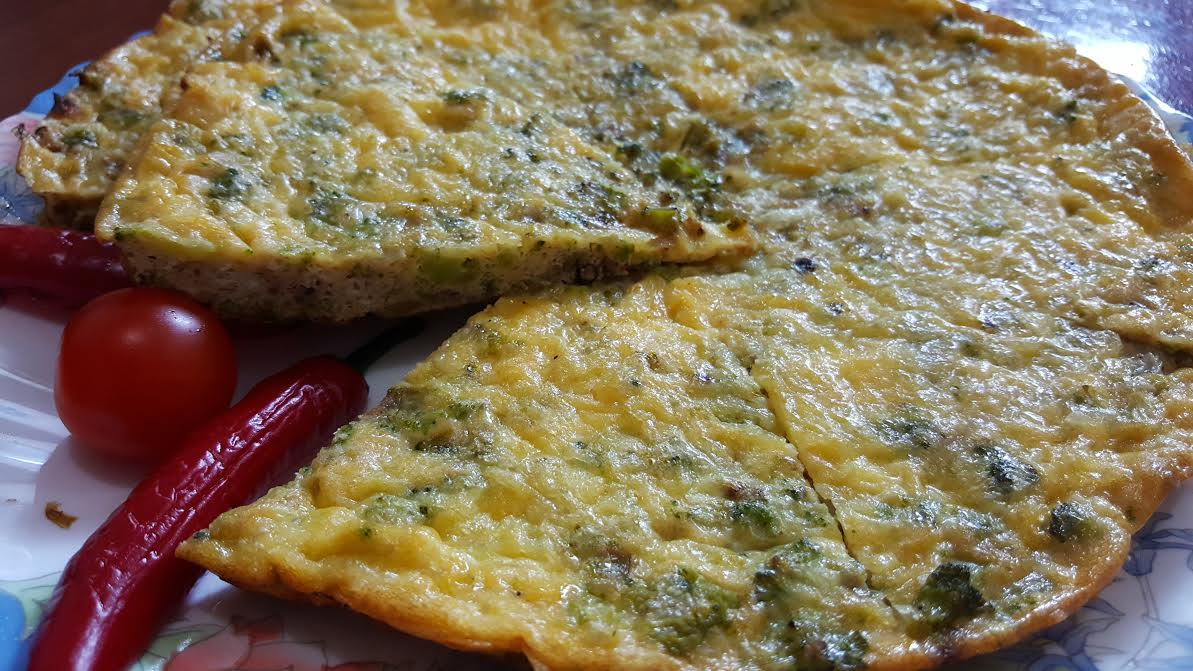 Broccoli and Cheddar Frittata (Mexican)