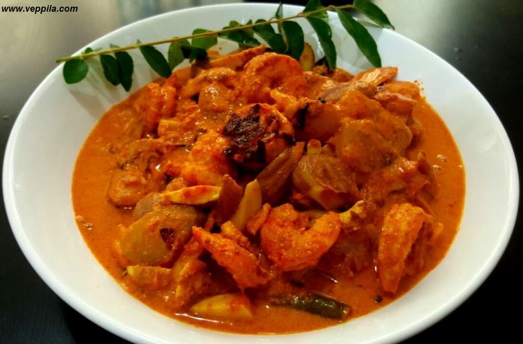 Prawns, Jackfruit seed and Mango curry