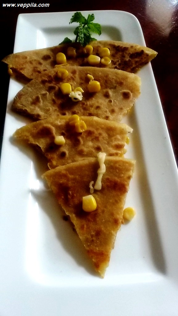 Corn Cheese Paratha