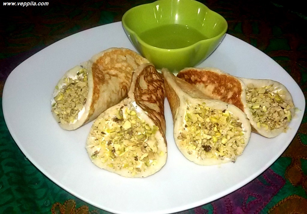 Qatayef or Kataif with Shrikant (an fusion recipe)