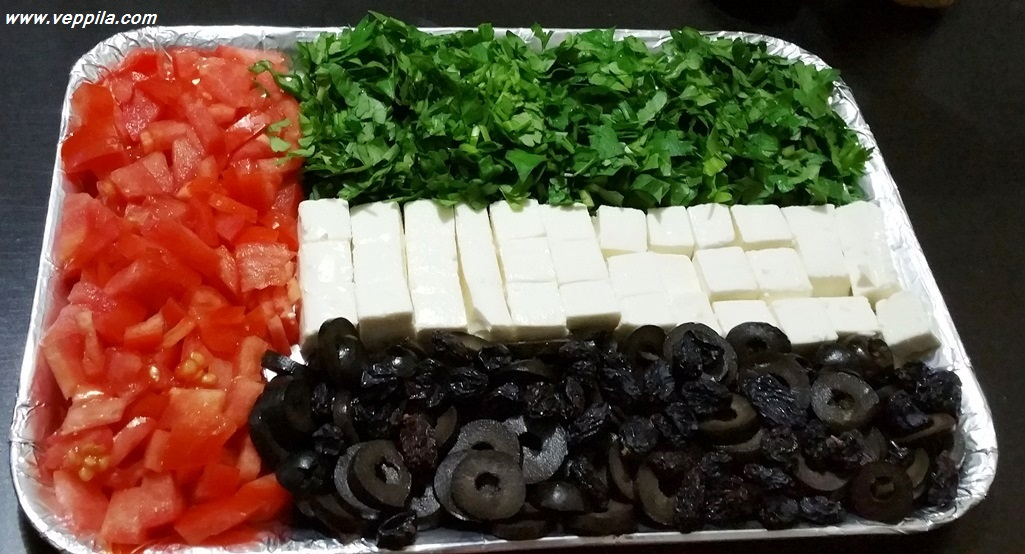Parsley, tomato, Olives fete cheese SALAD