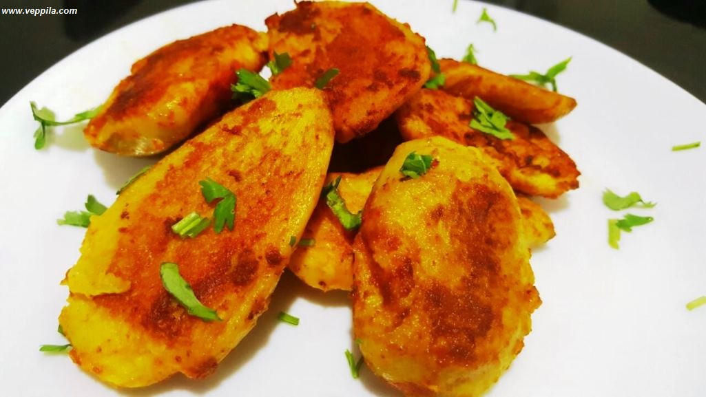 Shallow fried Colocasia (Chembu)