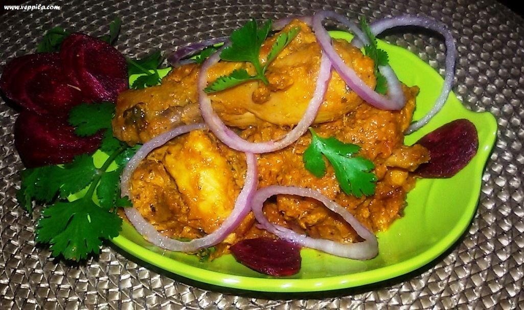 Beetroot Chicken Masala